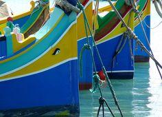 Boats in the harbour of Marsaxlokk, Malta