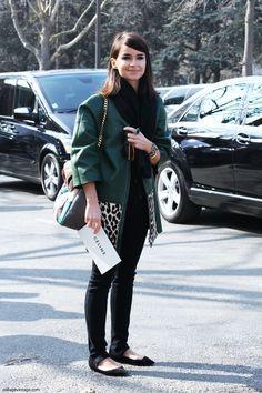 Miroslava Duma on Paris Fashion Week