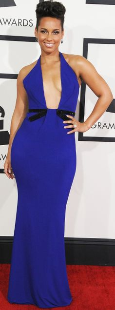 Alicia Keys took the plunge at the Grammy Awards