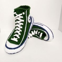 4f36fc5e8832be Knitted slippers men Converse boots 45 Knitted sneakers converse Crochet converse  slippers Knitted socks slippers Socks with sole House shoe