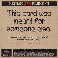 The 18 best splimple british and brokeish images on pinterest greetings cards birthday cards special occasion cards cool cards greeting cards birthday m4hsunfo