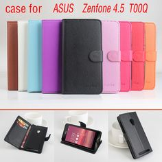 For  Asus Zenfone 4.5 T00Q case New Luxury flip protective wallet Leather cover case For Asus Zenfone 4.5 T00Q 4.5 inch case