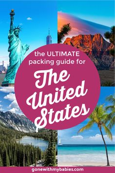 The United States is huge so packing must be done carefully to cover all climates. You can pack based on the region of the U.S. that you'll be traveling in or if you'll be traveling in multiple regions you'll need these packing lists to make sure your traveling correctly. Packing Tips For Vacation, Packing Lists, Travel Packing, Vacation Destinations, Vacation Trips, Travel Usa, Suitcase Packing, Travel Hacks, Vacation Travel