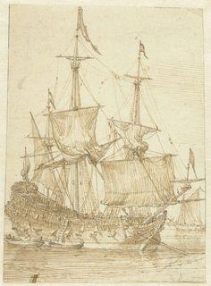 Zeilschip, anoniem, 1600 - 1699.