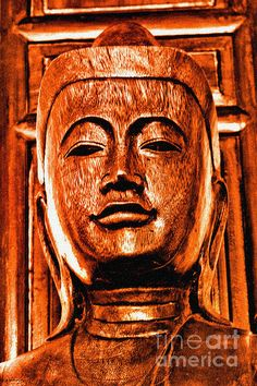 HEAD OF THE BUDDHA.  Handcrafted in mango wood, the head of the Buddha represents the wisdom and peace of the Buddha's teachings.  Born in Nepal in the 6th century B.C., he spent much of his life traveling throughout India.  After sitting under the famed Bodhi tree he found the ascetic life of doing without to be fruitless and began teaching a life of moderation. His teachings lead to the release of all suffering.  Artwork now available www.BeautyForGod.com