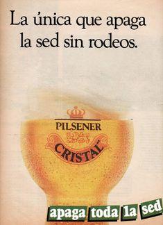 Publicidad de Pilsener Cristal, Chile año 1991