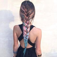 Color hair, hair style, rainbow