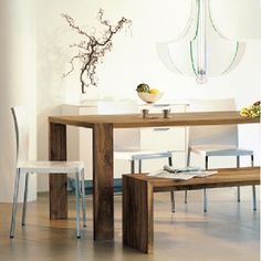 Eaton: Ligne Roset dining table and benches