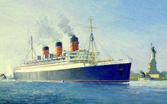 Queen Mary I (1936), Cunard Line, GB
