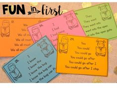 Fun in First Grade: Sight Word Sentence Trees