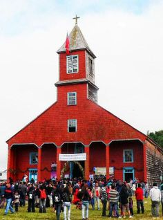 The Church of Caguach, Chile