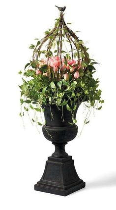 Tulip Urn Filler and Wreath.