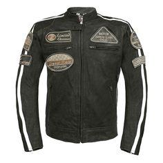 Herren Lederjacke mit Protektoren 2070 / Men's Leather Jacket with Protectors Men's Leather Jacket, Leather Men, Motorcycle Jacket, Biker, Jackets, Shopping, Fashion, Tag Watches, Hair Makeup