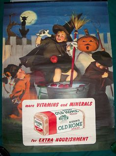 Nice old Halloween Poster - advertising Old Home Bread     http://soloha.vn/tham-trai-san-khach-san/tham-trai-san-khach-san-sa-ma-235.html