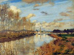 Argenteuil'de Seine Nehri'nin Küçük Bir Kolu / Argenteuil, Seen from the Small Arm of the Seine Claude Monet. 1872. Tuval üzerine yağlıboya....