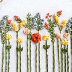 embroidery floss Beginner Hand Embroidery Kit - Indian Summer Wildflowers by And Other Adventures, DIY Hoop Art, Stit French Knot Embroidery, Flower Embroidery Designs, Silk Ribbon Embroidery, Dmc Embroidery Floss, Hand Embroidery Stitches, Embroidery Kits, Embroidery Tattoo, Embroidery Supplies, Brazilian Embroidery