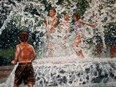 Charleston SC Fountain signed print by artist by DonnaPellegata, $9.99