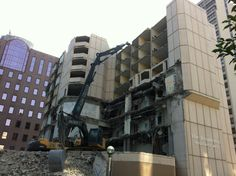 Demolition is on schedule! #Construction on the new 32 story #ChickenOutfit company headquarters will begin in September!