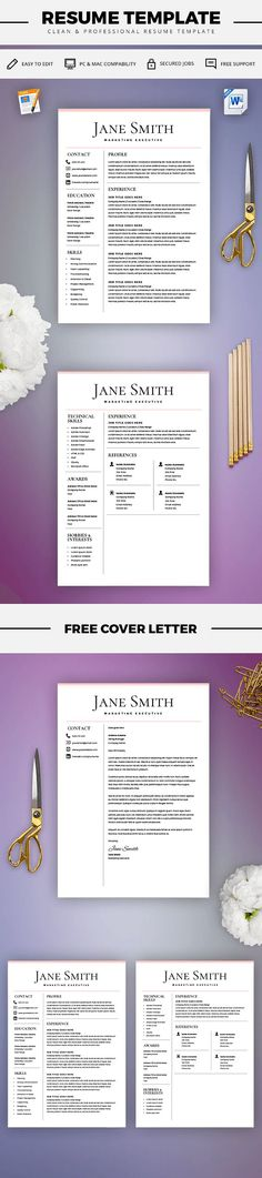 Classic Resume - Professional Resume Template for Word \ Pages - 2 - download resume templates word 2018