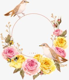 Floral Wall Art, Arte Floral, Floral Wreath Watercolor, Watercolor Flowers, Wedding Invitation Background, Wedding Invitations, Molduras Vintage, Watercolor Invitations, Floral Border
