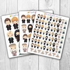 Harry Potter Stickers Kawaii Cute Stickers Planner by JLynnPaperCo