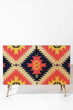 Fimbis NavNa Credenza | DENY Designs Home Accessories #furniture #geometric #art #home #interiors #homedecor #fashion #symmetrical #cerise #blue #yellow #wooden #wood