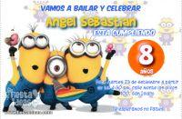 Invitaciones de mi Villano Favorito 2 Los Minions celebrando mi cumpleañoa