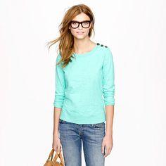 Tortoise-button sweatshirt