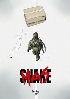 Parody poster Akira - Metal Gear Solid