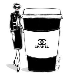 I'd like a double shot and extra frill on my CHANEL Coffee today!