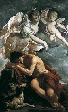 Giovanni Antonio Burrini, Diana and Endymion, c. 1680s