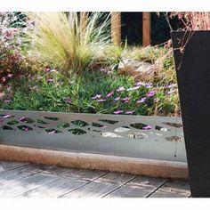 Bordure De Jardin En Acier Fushia Ondulee H 15 Cm Bordure Jardin