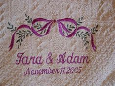 Wedding Date Samplers Google Search Embroidered Blanketswedding