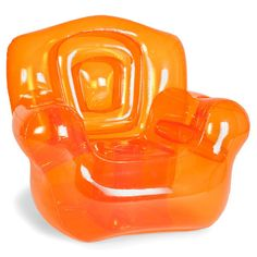Inflatable Chair Orange furniture, orange, lounge chairs