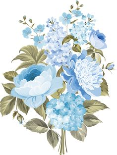 my design / blue flowers