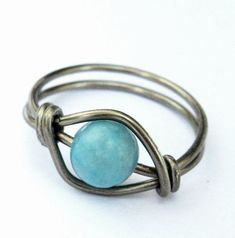 Turquoise Ring  Boho Jewelry  Bohemian Wire by DistortedEarth, $8.00
