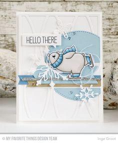 Polar Bear Pals Stamp Set and Die-namics, Horizontal Snow Drifts Cover-Up Die-namics, Stylish Snowflakes Die-namics, Stitched Arch STAX Die-namics, Blueprints 7 Die-namics - Inge Groot  #mftstamps