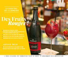 Du XRouge, des fruits rouges, de la cannelle, du jus d'orange sanguine pour un cocktail très coloré ! Cocktails, Alcoholic Drinks, Orange Sanguine, Jus D'orange, Red Wine, Glass, Cinnamon Syrup, Raspberry, Red Berries