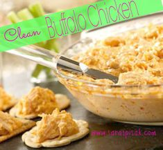 Crock Pot Clean Buffalo Chicken — 21 Day Fix Approved With Skinless Chicken Breast, Greek Yogurt, Red Hot, Garlic Powder, Garlic, Diced Onion