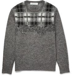 Neil Barrett - Checked Knitted Sweater|MR PORTER