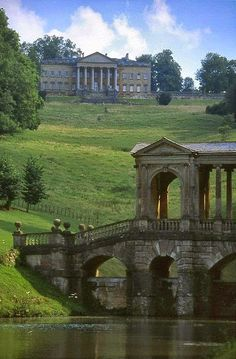 Mr Darcy and Elizabeth Bennett on the bridge. Prior Park, Bath, England. | Incredible Pics