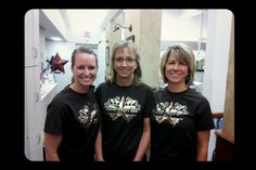 Our wonderful hygienists~ Kristy, Renee' and Janis. Come visit them today. www.davidtoney.com