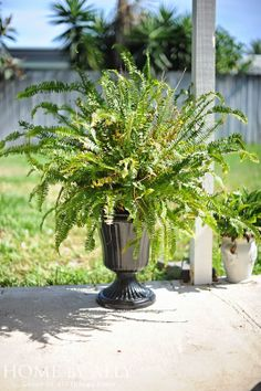 DIY knock off Ballard Designs flower pot urns!!! LOVE Possible for the route to the front door