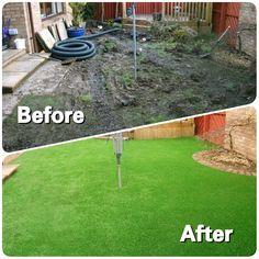 Before and After  #ArtificialTurfScotland #artificial #fakegrass #artificialgrass #astroturf #grass #syntheticgrass #syntheticturf #garden #landscape #gardening #scotlandUK
