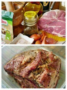 Staročeská pečená krkovička (fotorecept) - obrázok 1 Ale, Pork, Food And Drink, Meat, Pork Roulade, Pigs, Ales, Pork Chops