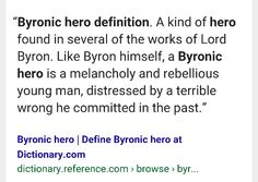 examples of the hero archetype cool loner also called the lost get your types of heroes right byronic hero definition