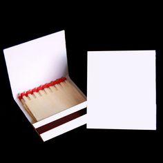 Cajas de cerillas blancas modelo Book 2x9.