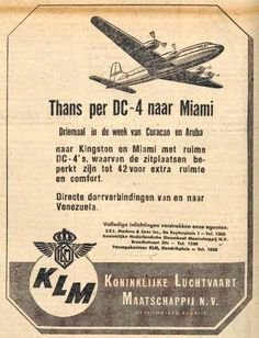 Naam: DC4 ad Miami Amigoe di Curacao 27-09-1946.jpg Bekeken: 46 Grootte: 83,7 KB