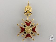 A Miniature Bavarian Military House Order of St. George in Gold   eMedals