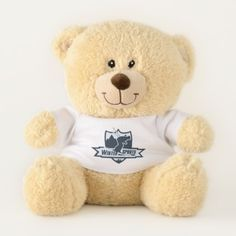 Winter Sports Skiing Sherman Teddy Bear - home gifts ideas decor special unique custom individual customized individualized